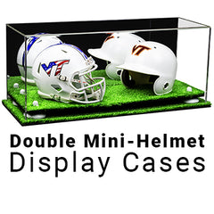 double mini helmet display cases