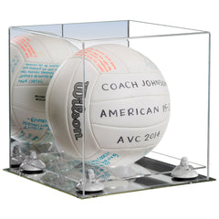 Mirror Base Display Case for Volleyball