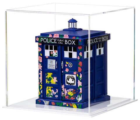 "A Funko TARDIS is featured inside an A059 8"" Display Cube from Better Display Cases"