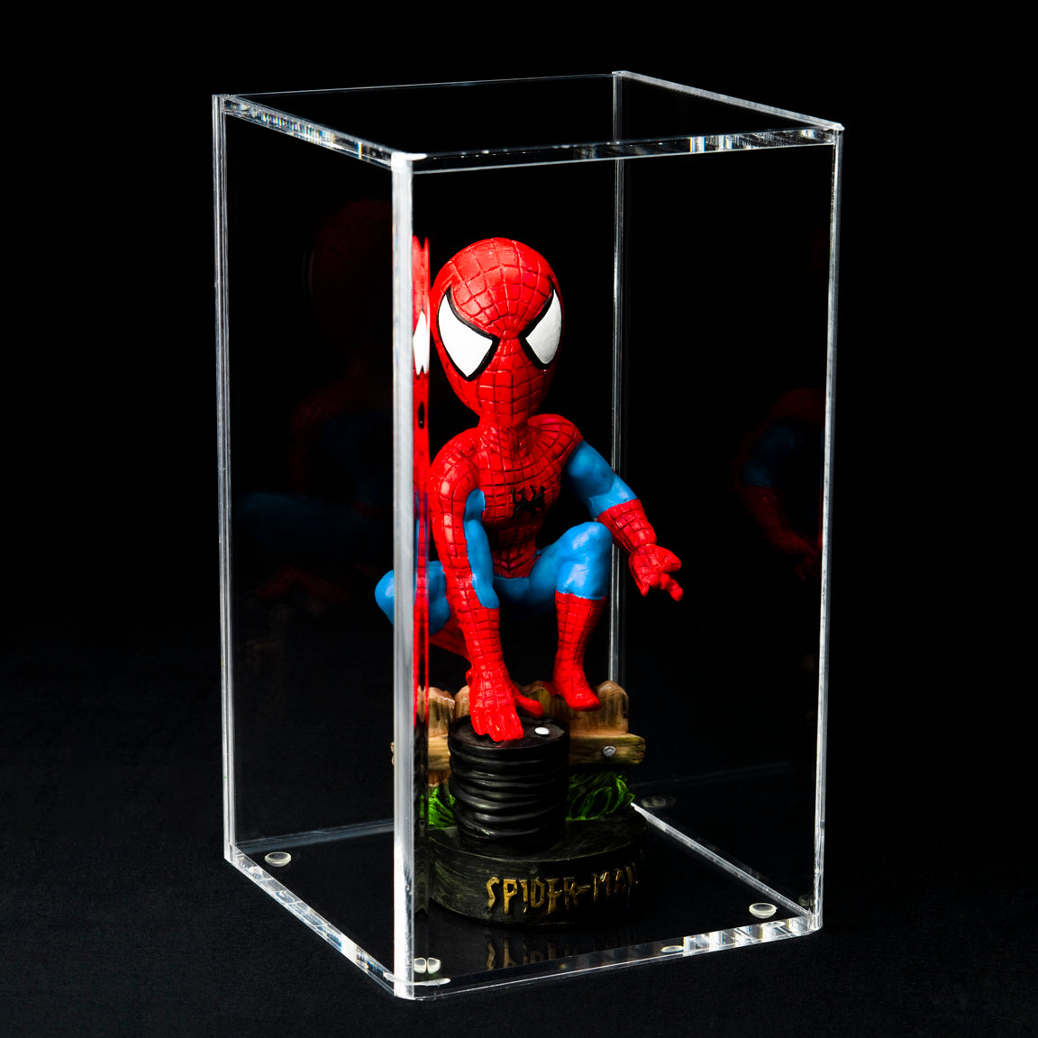 Spider-Man, displayed in our A016 bobblehead case
