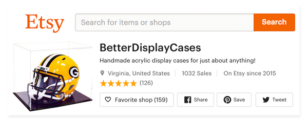 Etsy Feedback ratings