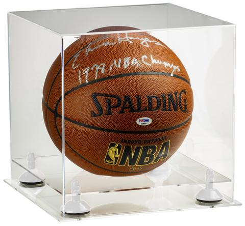 Clear Basketball Display Cases with risers and clear base