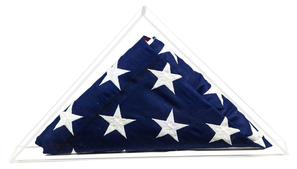 Clear Acrylic Flag Display Case for American / Burial / Funeral / Veteran Flag