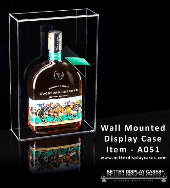 Wall Mount Bottle Display Case (A051)