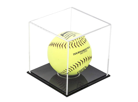 Deluxe Acrylic Softball Display Case <br><sub>(Clear or Mirrored) (A081), Display Case, Better Display Cases, Better Display Cases - Better Display Cases