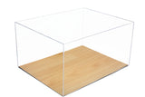 Deluxe Acrylic Display Case<br><sub>with Simulated Wood Floor</sub>, Display Case, Better Display Cases, Better Display Cases - Better Display Cases