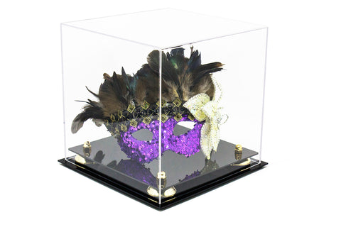 "Versatile Deluxe Clear Acrylic Display Case - Medium Square Box <br>with Risers <br><sub>10"" x 10"" x 10""(A028), Display Case, Better Display Cases, Better Display Cases - Better Display Cases"