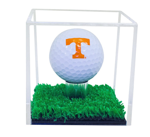 Deluxe Acrylic Full Size Golf Ball Display Case with Turf Floor with UV Protection (A046-TB)