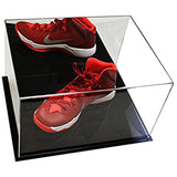 Deluxe Acrylic Basketball Shoe Display Case<br><sub>with Black Acrylic Base (A025-DS)</sub>