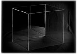 "Versatile Deluxe Acrylic Display Case Large Rectangle Box with<br> Risers Mirror and Wall Mount<br><sub> 16"" x 13"" x 14"", Display Case, Better Display Cases, Better Display Cases - Better Display Cases"