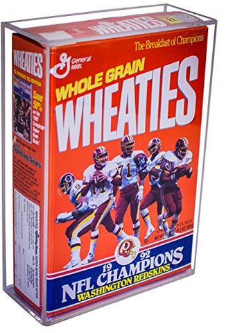 Deluxe Clear Acrylic Wheaties Cereal Box Display Case with Wall Mount (A020), Display Case, Better Display Cases, Better Display Cases - Better Display Cases