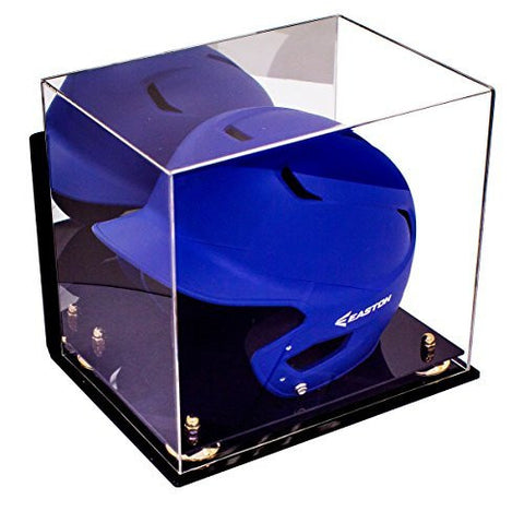 Baseball Helmet <br> Display Case With <br> Mirror and Wall Mount<br> <sub> For MLB, NCAA, and more </sub>