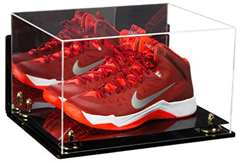 Deluxe Acrylic Basketball Shoe Pair Display Case with Mirror, Wall Mount and Risers (A082), Display Case, Better Display Cases, Better Display Cases - Better Display Cases