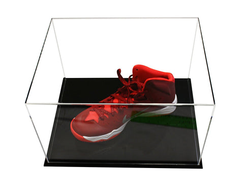 "Acrylic Deluxe Table Top Display Case<br>Medium Rectangle Box<br><sub>15.25"" x 12"" x 9"" (A025-DS)"