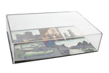 "Clear Acrylic Black Back Wall Mount <br>Display Case<br> <sub> 8"" x 3"" x 12""(A051-BB-WM), Display Case, Better Display Cases, Better Display Cases - Better Display Cases"