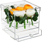 Clear Acrylic Flowers Display Case for Wedding and Home