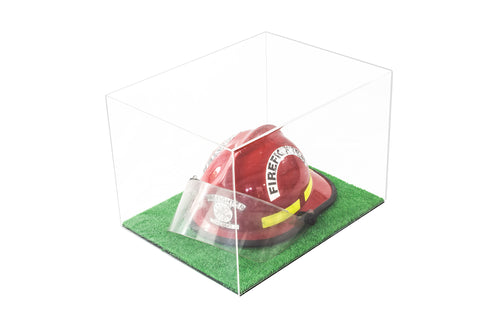 "Versatile Deluxe Acrylic Display Case - Large Rectangle Box with Turf Bottom 18"" x 14"" x 12"" (A014-TB), Display Case, Better Display Cases, Better Display Cases - Better Display Cases"