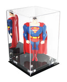 "Versatile Deluxe Acrylic Display Case <br> Medium Rectangle Box with Risers and Mirror<br><sub> 8"" x 8"" x 12"" (A060), Display Case, Better Display Cases, Better Display Cases - Better Display Cases"