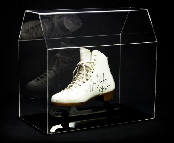 Clear Acrylic Ice Skate Hockey Skate Display Case Fits