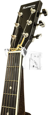 Deluxe Clear Acrylic Guitar Hanger/Hook/Holder Wall Mount Bracket for Acoustic or Electric Guitars (A063-G)
