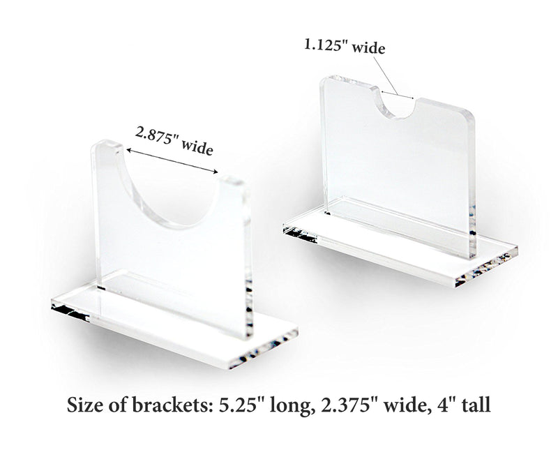 Deluxe Clear Acrylic Horizontal Table Top Baseball Bat<br>Display Stand<br><sub>(A056-LS-TT)</sub>, Display Case, Better Display Cases, Better Display Cases - Better Display Cases