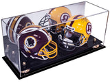 Double Mini Football <br> Helmet Display Case <br> With Mirror <br><sub>NFL, NCAA, and More!</sub> - Better Display Cases - 1