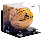 Deluxe Acrylic MINI - Miniature (not full size) Basketball<br>Wall Mount<br>Display Case <br><sub> NCAA, NBA, and More! </sub>, Display Case, Better Display Cases, Better Display Cases - Better Display Cases