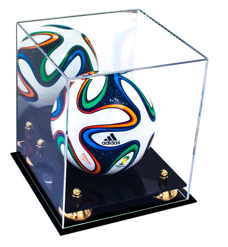 mini soccer ball case, Mirror case, with risers, black base
