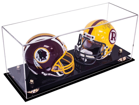 Double Mini <br> Football Helmet <br> Display Case<br><sub>NFL, NCAA, and More!</sub>, Display Case, Better Display Cases, Better Display Cases - Better Display Cases