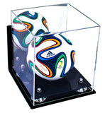 Mini Soccer Ball <br> Mirrored Display Case with Wall Mount <br><sub> FIFA, NCAA, and More! </sub> - Better Display Cases - 2