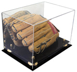 "Versatile Deluxe Acrylic Display Case - Medium Rectangle Box with Risers and Mirror 12"" x 8.25"" x 8"" (A004)"