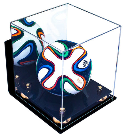 Mini Soccer Ball <br> Mirrored Display Case with Wall Mount <br><sub> FIFA, NCAA, and More! </sub>, Display Case, Better Display Cases, Better Display Cases - Better Display Cases