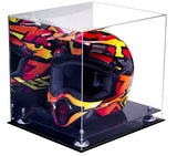 Motocross Helmet <br> Mirrored Display Case  <br> <sub/> Nascar, Motorcycle, Racing! - Better Display Cases - 2