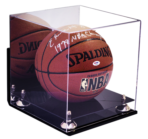 Full Size Basketball Mirrored Display Case with Wall Mount<br> <sub> For NBA, NCAA, and more </sub>, Display Case, Better Display Cases, Better Display Cases - Better Display Cases