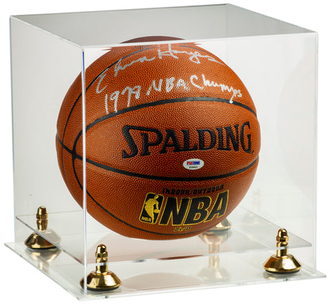 Deluxe Clear Acrylic Full Size Basketball Display Case with Risers and Clear Base (A001) <br><sub> For NBA, NCAA, and more</sub>, Display Case, Better Display Cases, Better Display Cases - Better Display Cases