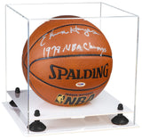 Basketball Display Case with Risers