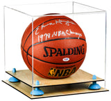 Clear Basketball (Full Size) Display Case with Risers and Wood Floor <br><sub> For NBA, NCAA, and more</sub>, Display Case, Better Display Cases, Better Display Cases - Better Display Cases