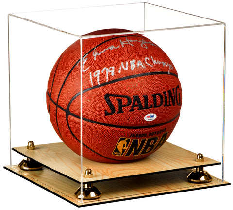 Clear Basketball (Full Size) Display Case with Risers and Wood Base <br><sub> For NBA, NCAA, and more</sub>, Display Case, Better Display Cases, Better Display Cases - Better Display Cases