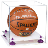 Clear Acrylic Basketball Display Box with White Base