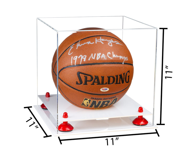 11x11x11 Basketball Display Case with White Base