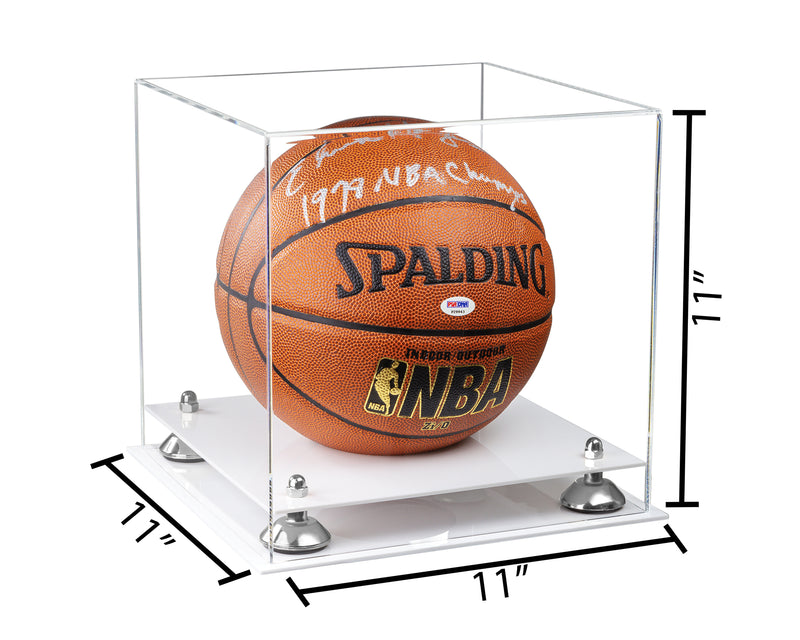 11x11x11 Basketball Display Case with Risers