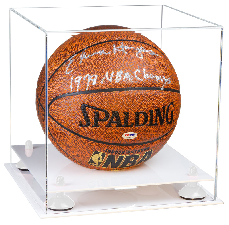 Basketball Display Case with White Base