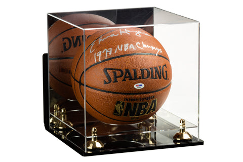 Deluxe Acrylic Full Size Basketball Display Case with Mirror, Wall Mount, Risers and Clear Base (A001) <br><sub> For NBA, NCAA, and more</sub>, Display Case, Better Display Cases, Better Display Cases - Better Display Cases