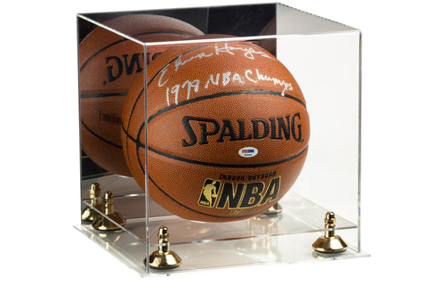 Deluxe Acrylic Full Size Basketball Display Case with Mirror, Risers and Clear Base (A001) <br><sub> For NBA, NCAA, and more</sub>, Display Case, Better Display Cases, Better Display Cases - Better Display Cases
