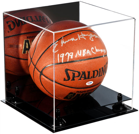 Acrylic Basketball Display Case  w/ Mirror, Black Base  A001/B01