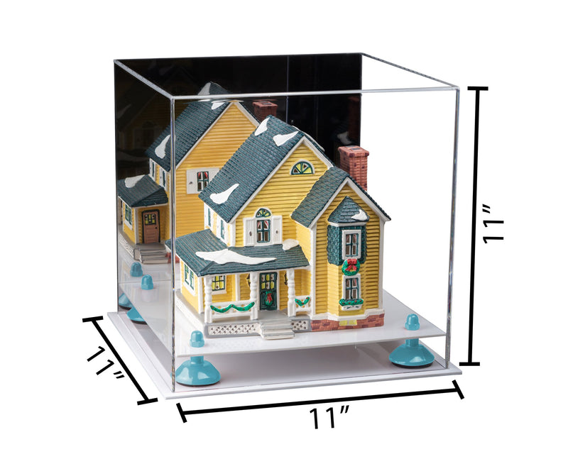 11x11x11 Acrylic Display Box with Mirror