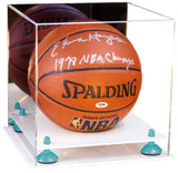 Acrylic Basketball Display Case with Mirror and Risers