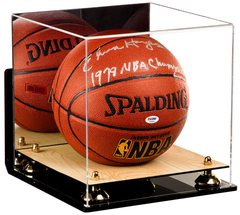 Full Size Basketball Mirrored Display Case with Wall Mount and Wood Floor<br> <sub> For NBA, NCAA, and more </sub>, Display Case, Better Display Cases, Better Display Cases - Better Display Cases