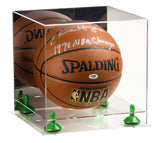 Acrylic Basketball Display Case  w/ Mirror, Clear Base  A001/B01