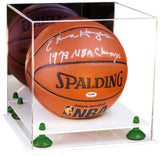 Mirrored Basketball Display Box with Risers